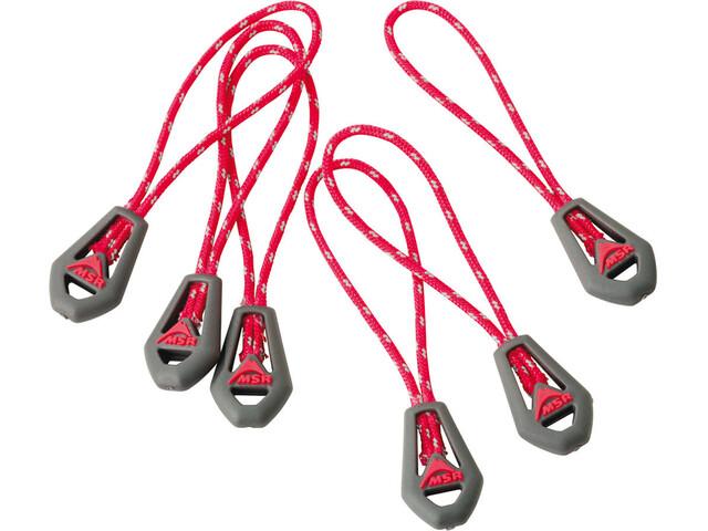 MSR Universal Zipper Pulls - Accessoire tente - gris/rouge